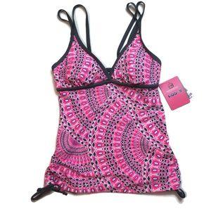 Free Country Pink Missy Strap Tankini Swim Top